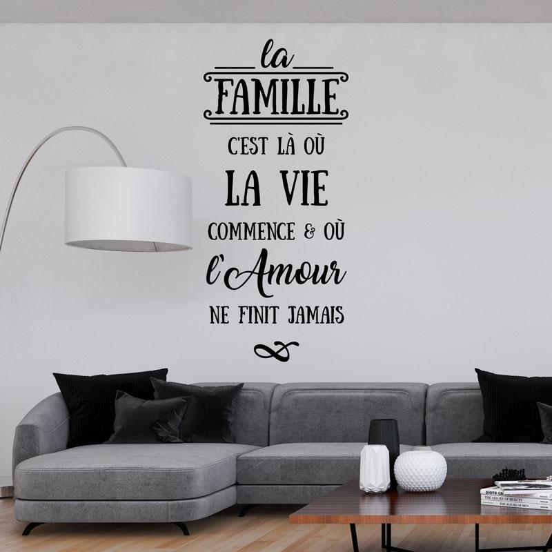 Sticker Citation La Famille Cest L O La Vie
