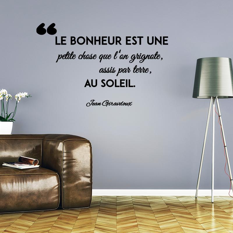 Sticker Citation Le Bonheur Est Une Petite Chose