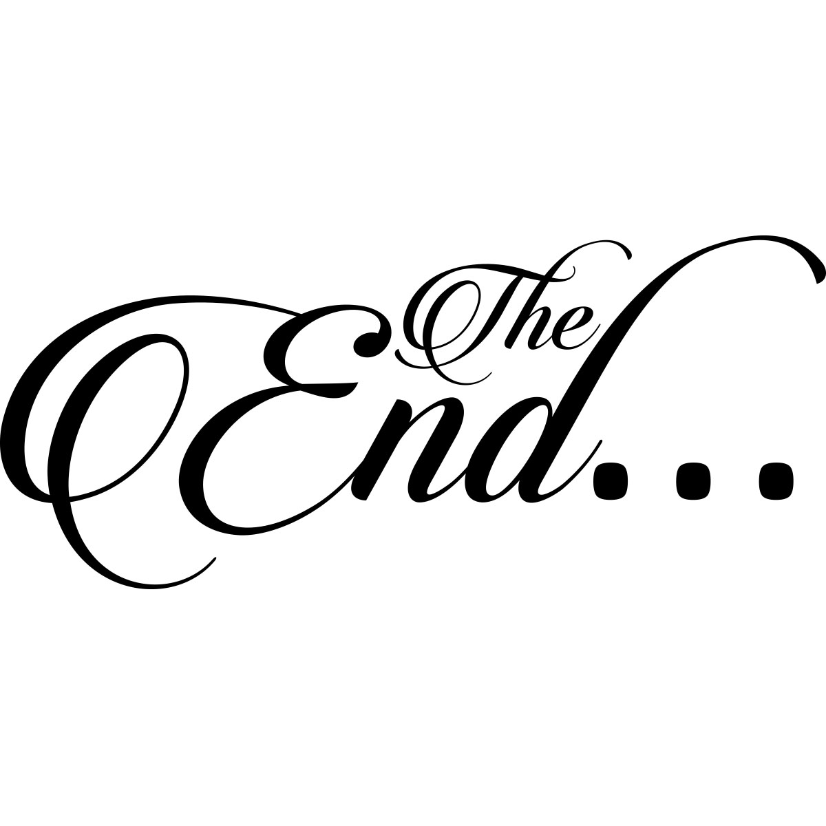 Sticker Design The End