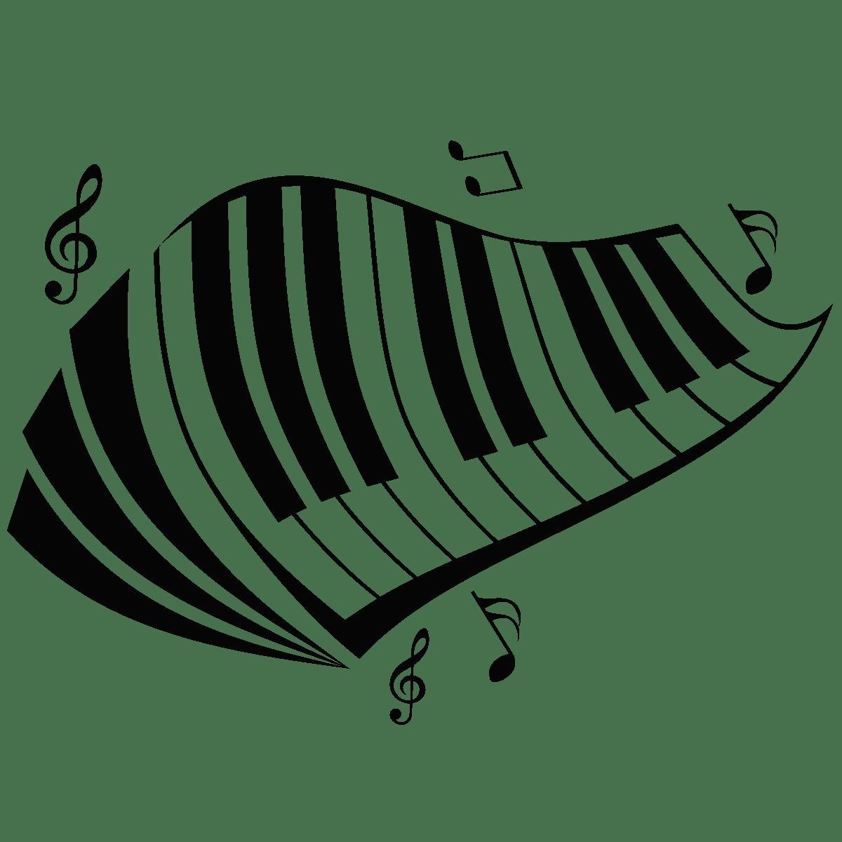 Sticker Design Touche De Piano