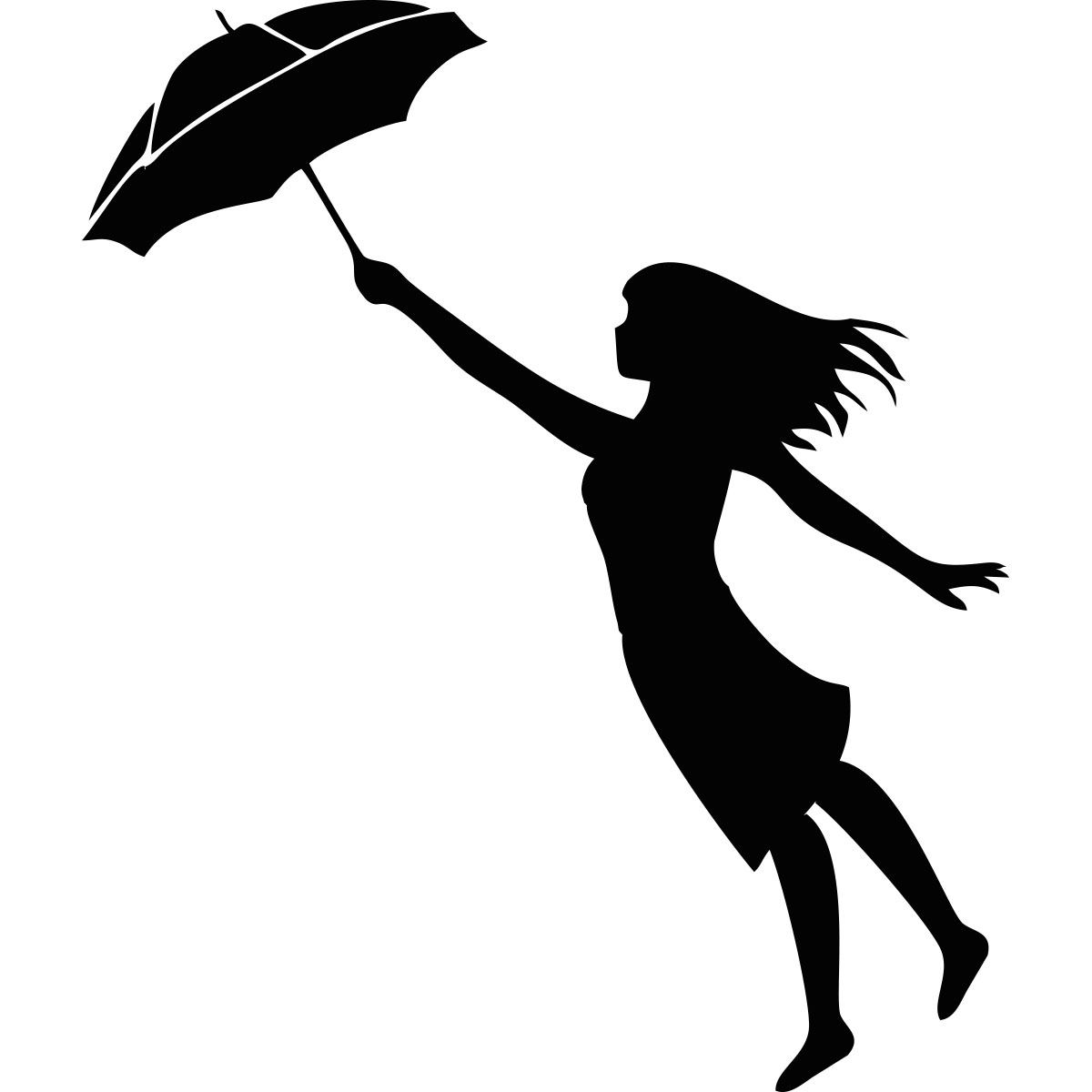 Sticker Femme Parapluie Stickers Chambre Ado Fille