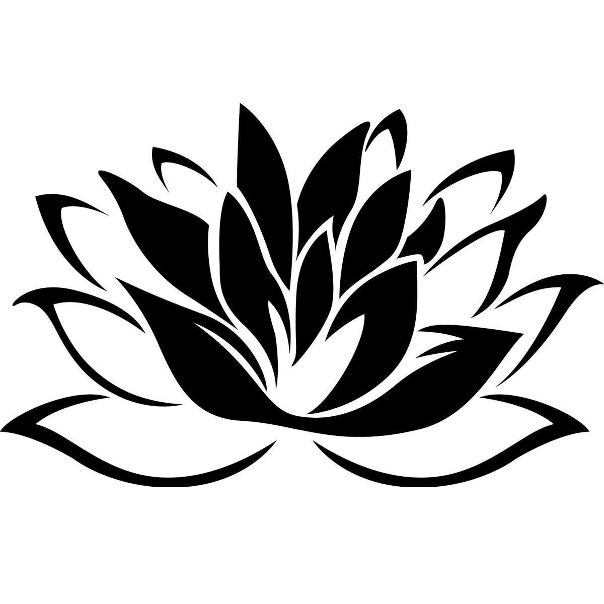 Stickers Muraux Fleurs Sticker Fleur De Lotus Ambiance