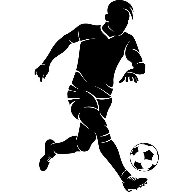 Stickers Sport Et Football Sticker Footballeur Avec Un