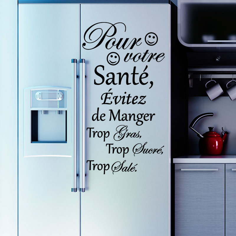 Sticker Frigo Citation Pour Votre Sant Stickers