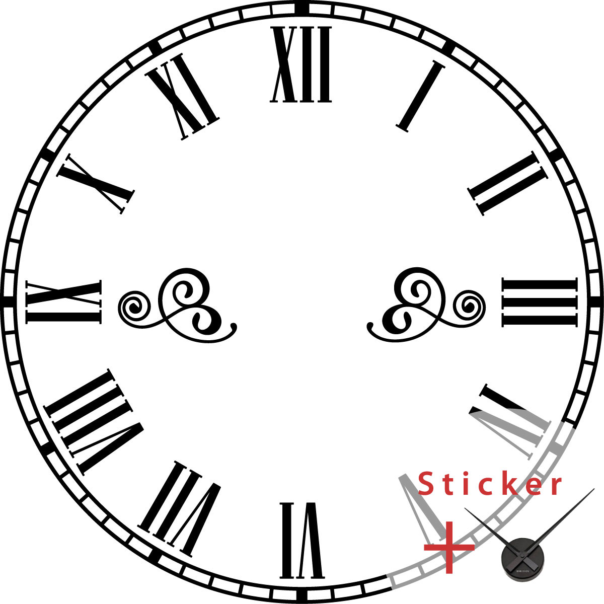 Sticker Horloge Classique