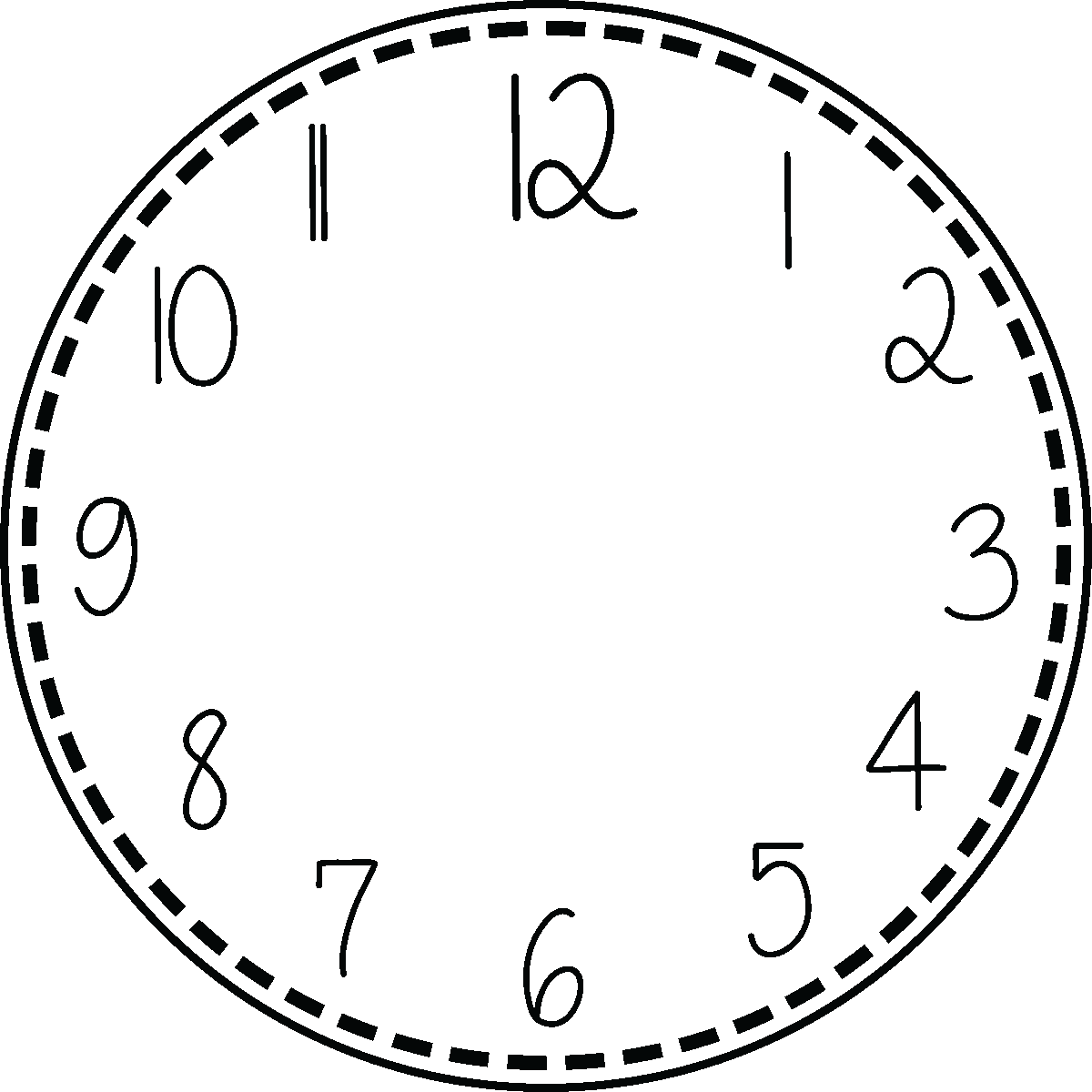 Stickers Horloges Scolaire