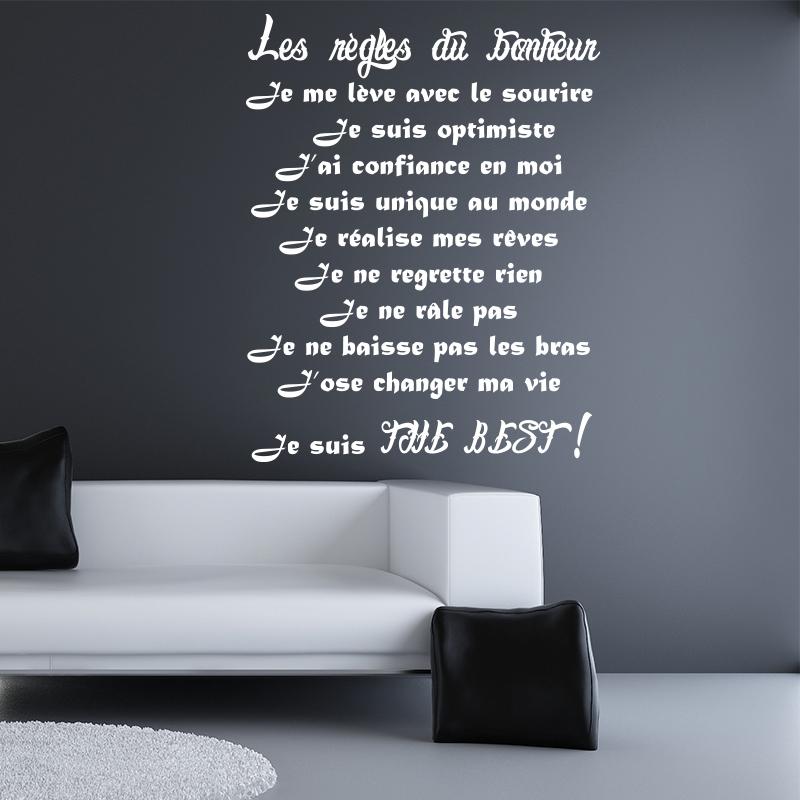 Sticker Les Rgles Du Bonheur II Stickers Citations