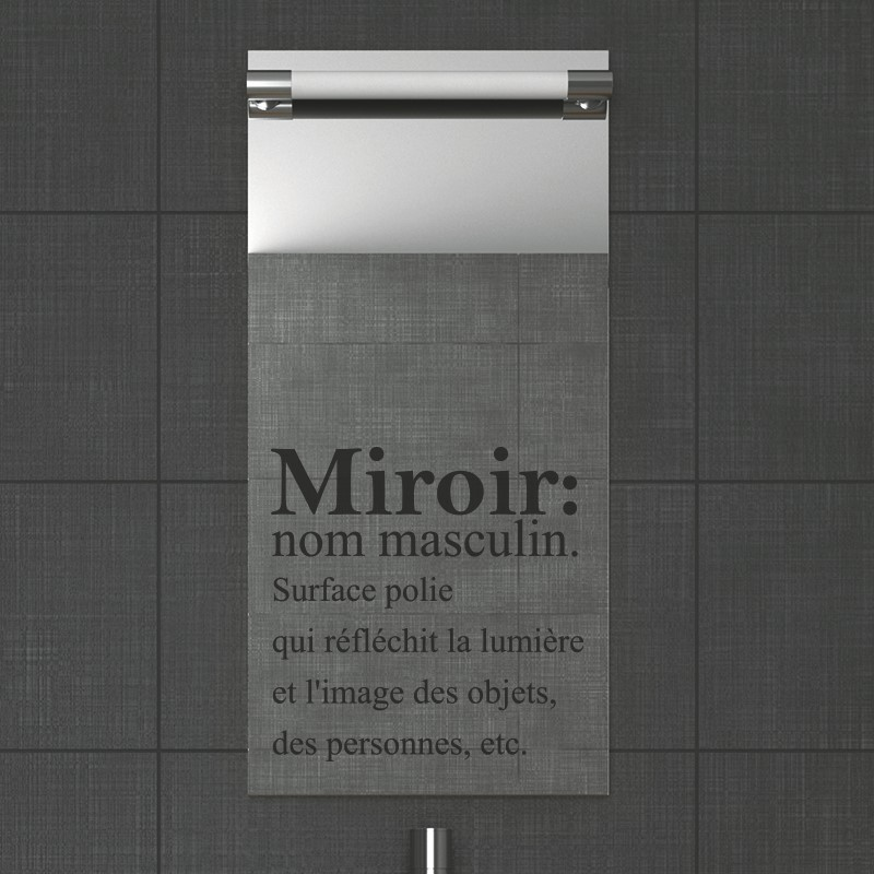Stickers Muraux Pour Salle De Bain Sticker Mural Miroir