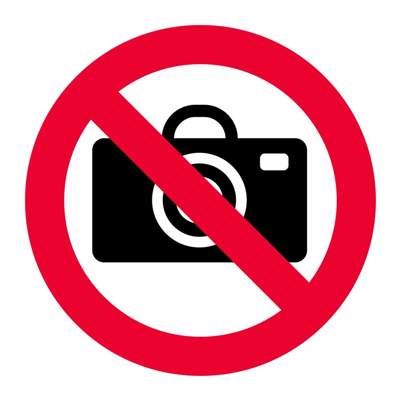 Sticker Interdit De Photographier Stickers Salle De Bain