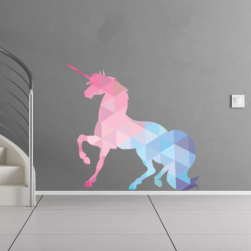 Sticker Origami La Licorne Stickers Chambre Ado Fille