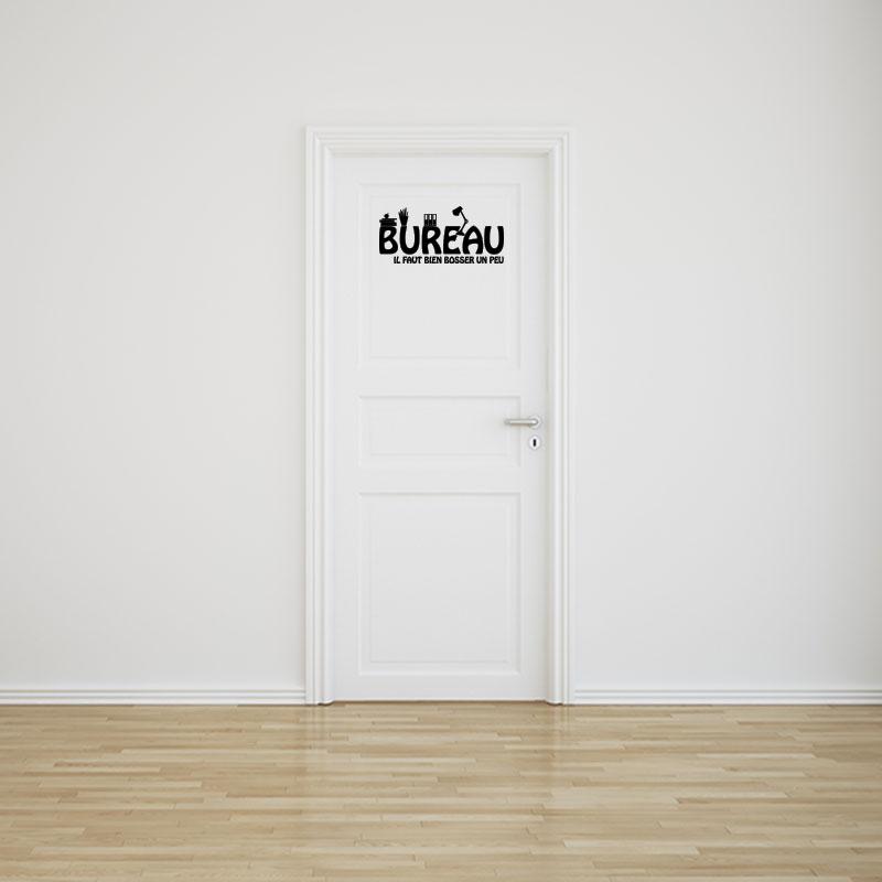 wall decal quote door of office il faut bien