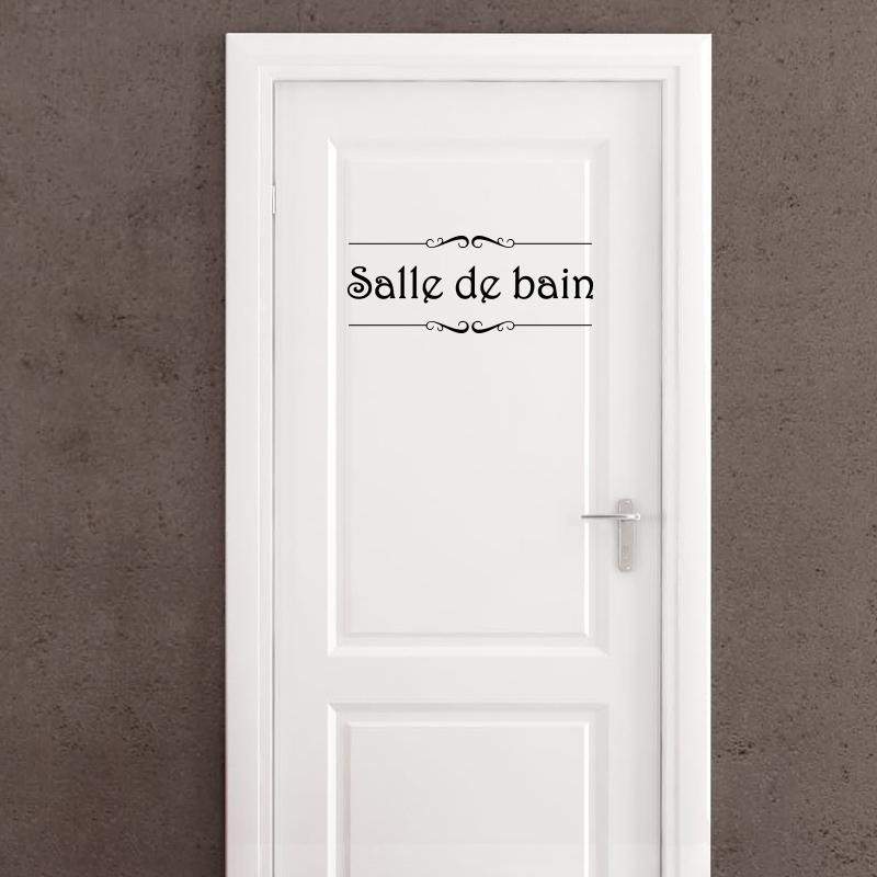 Sticker Porte Salle De Bain Et Toilettes Stickers