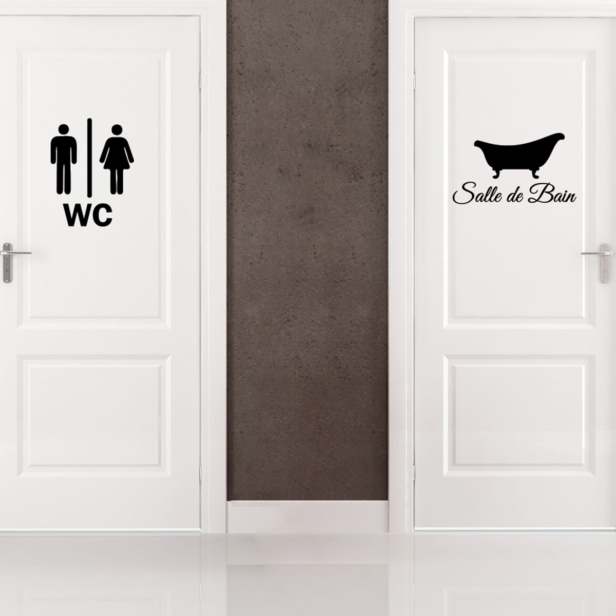 Sticker Porte Salle De Bain Et WC Stickers SALLE DE BAIN