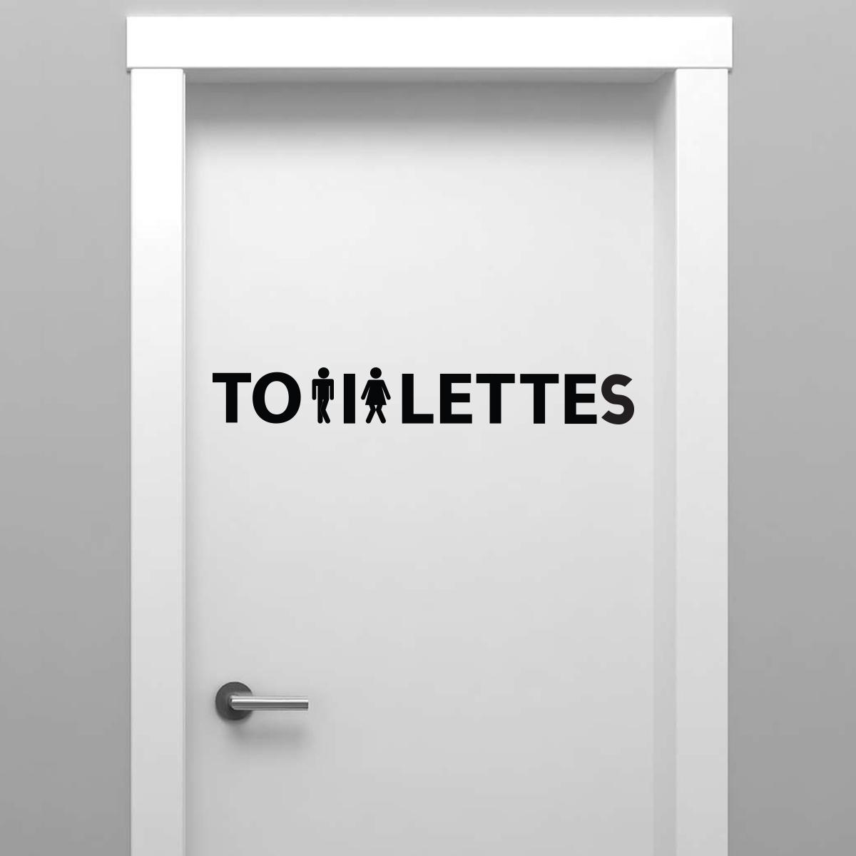 Sticker Porte Toilettes Femme Et Homme Presss Stickers