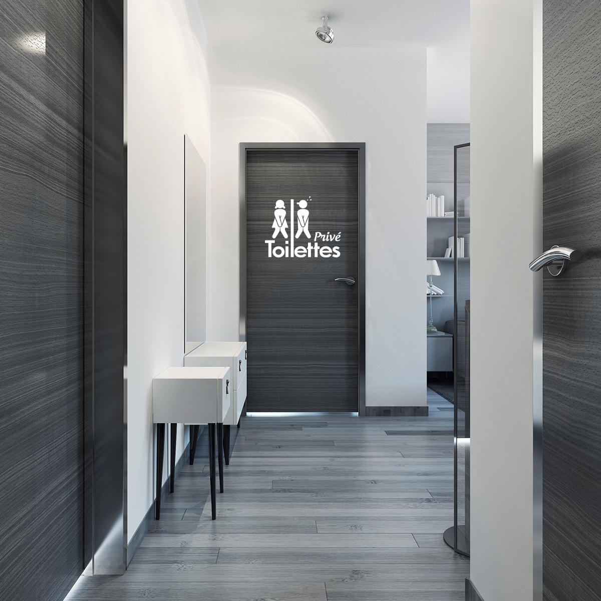 Sticker Porte Toilettes Priv Stickers Toilettes Porte