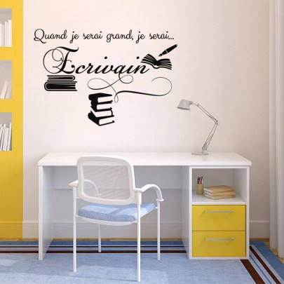 Wall decals for kids - Quand je serai grand, je serai écrivain wall decal - ambiance-sticker.com