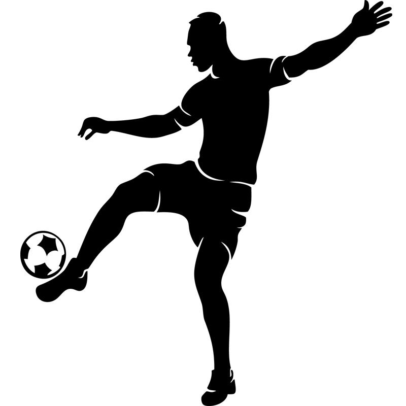 Stickers Sport Et Football Sticker Silhouette