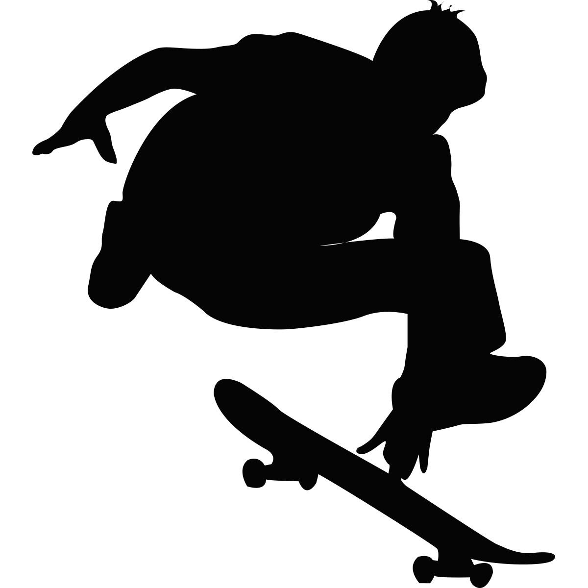 Sticker Silhouette Jeune Skater Stickers Musique
