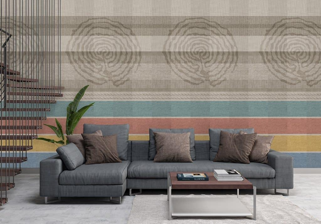 Al giorno d'oggi, per rendere tutto più semplice, questo tipo di rivestimento è diventato anche adesivo: Intertwining Of Fashion And Home Decor The Wall Fabric Ambientha