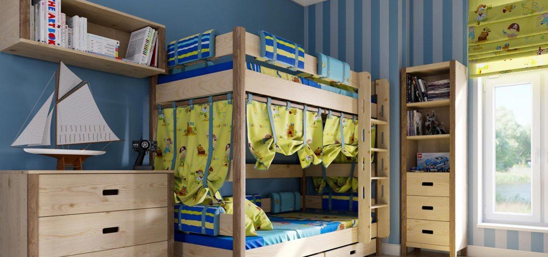 Idee sui tendaggi per camere per bambini ambienti - Camera per bambini usata ...
