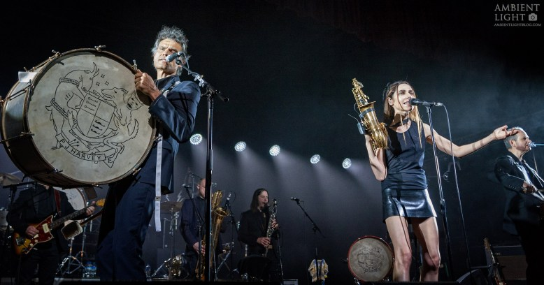 PJ Harvey performing live at the Logan Campbell Centre, Auckland 2017. Image by Doug Peters.