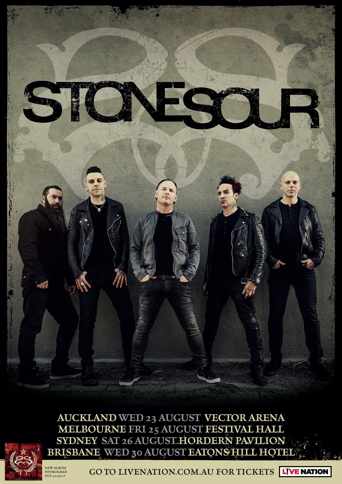 Stone Sour NZ Tour Poster
