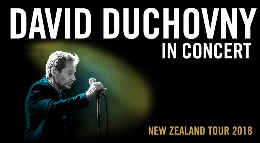 David Duchovny NZ Tour 2018 Banner