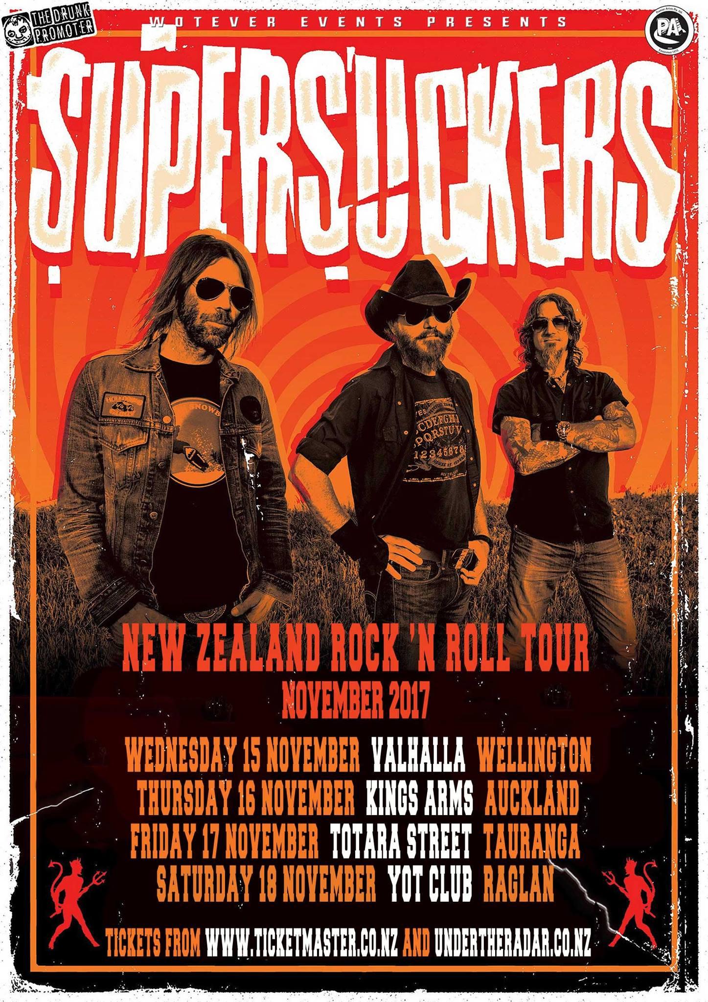 Supersuckers NZ Tour Poster
