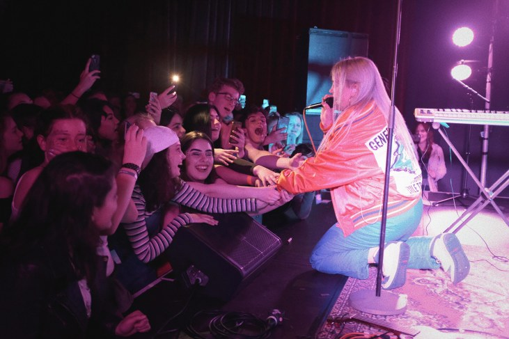 Billie Eilish perfoming live in Auckland, New Zealand 2017. Image by Shahlin Graves.