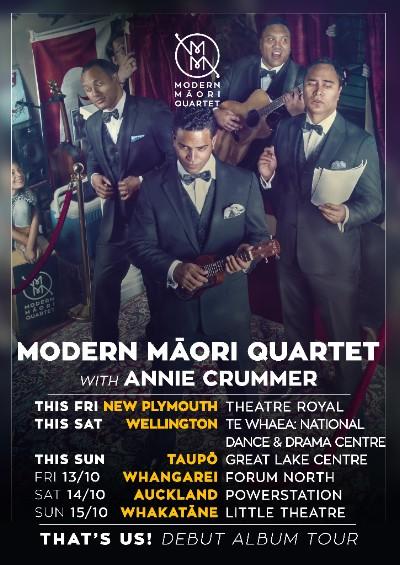 Modern Māori Quartet Tour Poster