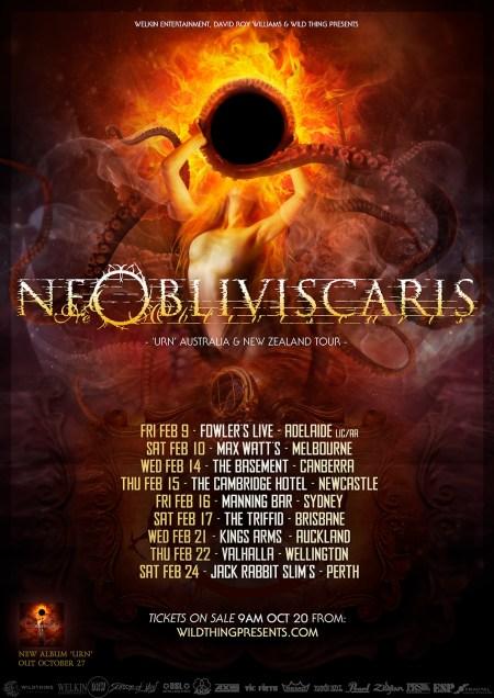 Ne Obliviscaris Tour Poster