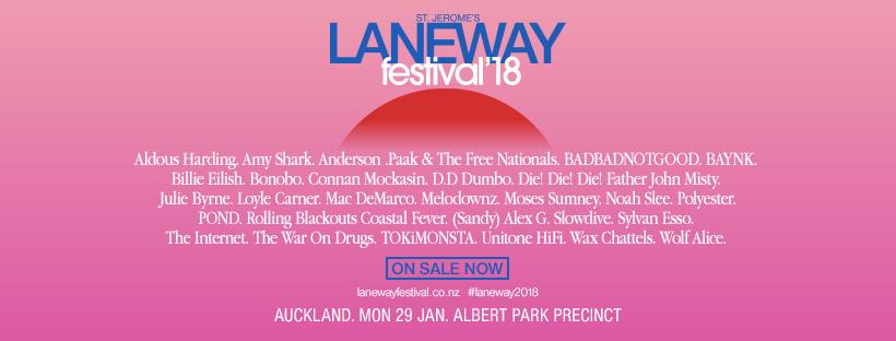 Laneway Lineup Banner