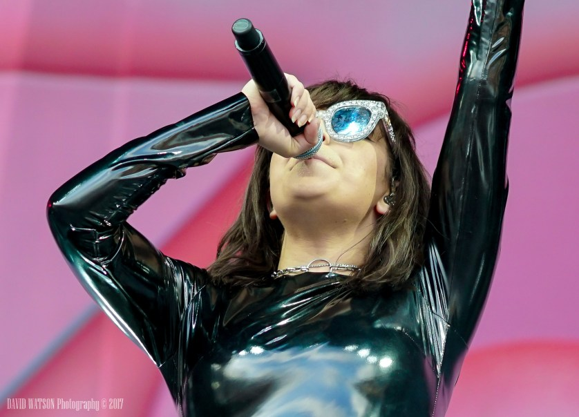 Charli XCX performing live in Auckland, New Zealand 2017. Image by David Watson Photography.