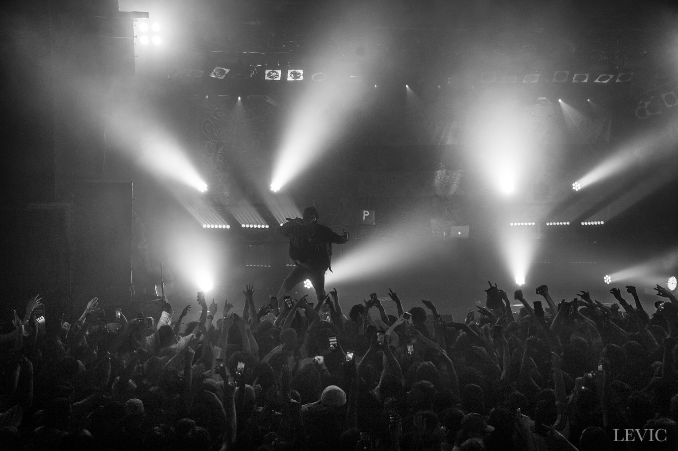 Joey Badass performing live in Auckland, New Zealand.