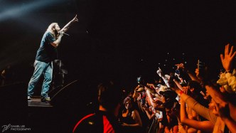Post Malone performing live in Auckland, New Zealand 2018. Image by Daniel Lee.