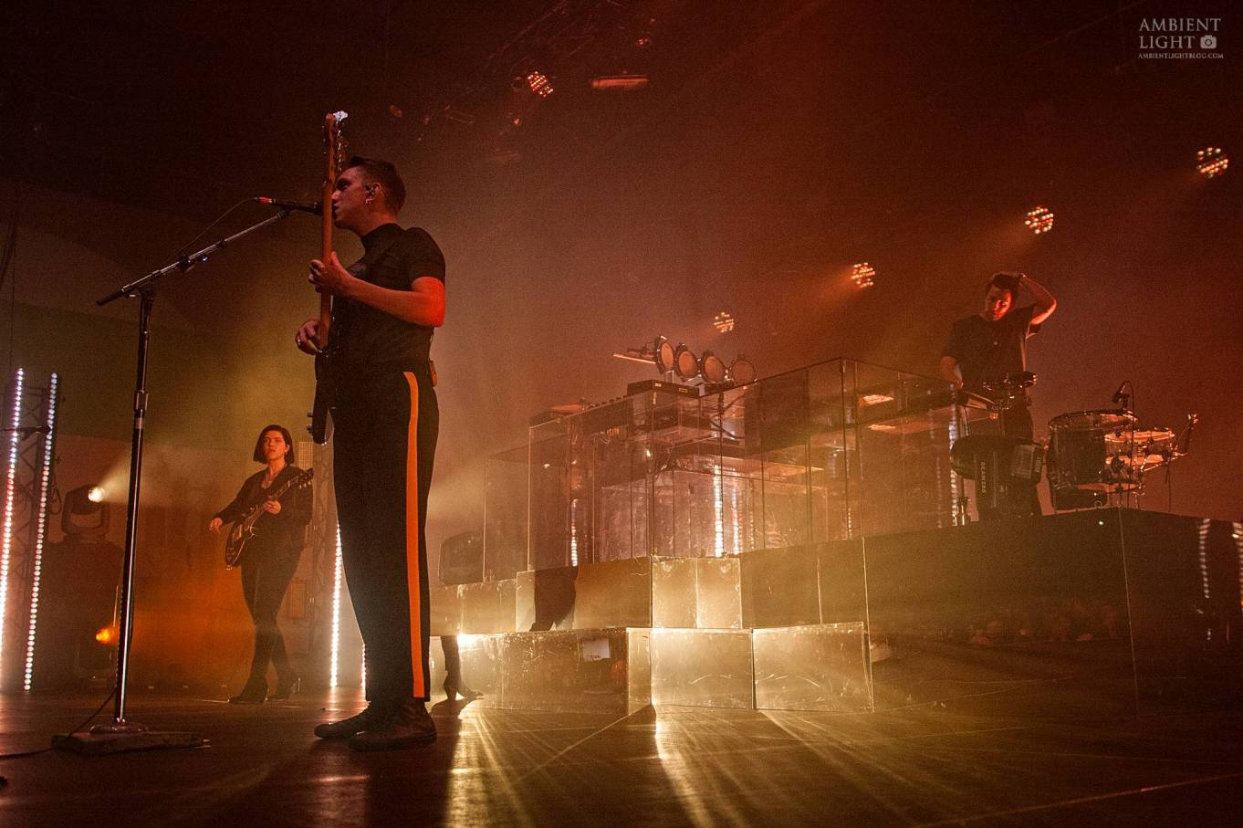 The xx performing live in Auckland, New Zealand 2017. Image by Doug Peters.