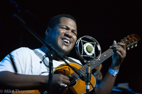 Blind Boy Paxton perform live in Auckland, New Zealand 2018. Image by Mike Thornton.