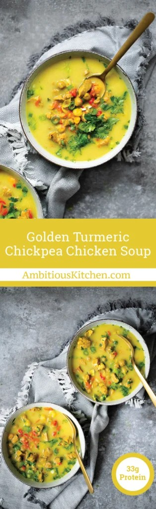 Golden Turmeric Chickpea Chicken Soup | Ambitious Kitchen