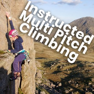 instructed multi-pitch rock climbing