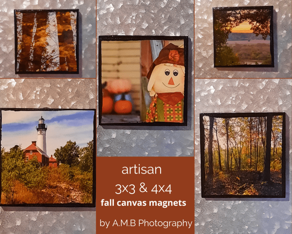 Artisan 3x3 & 4x4 Fall Canvas Magnets