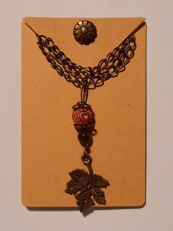 Bronze Maple Leaf Necklace