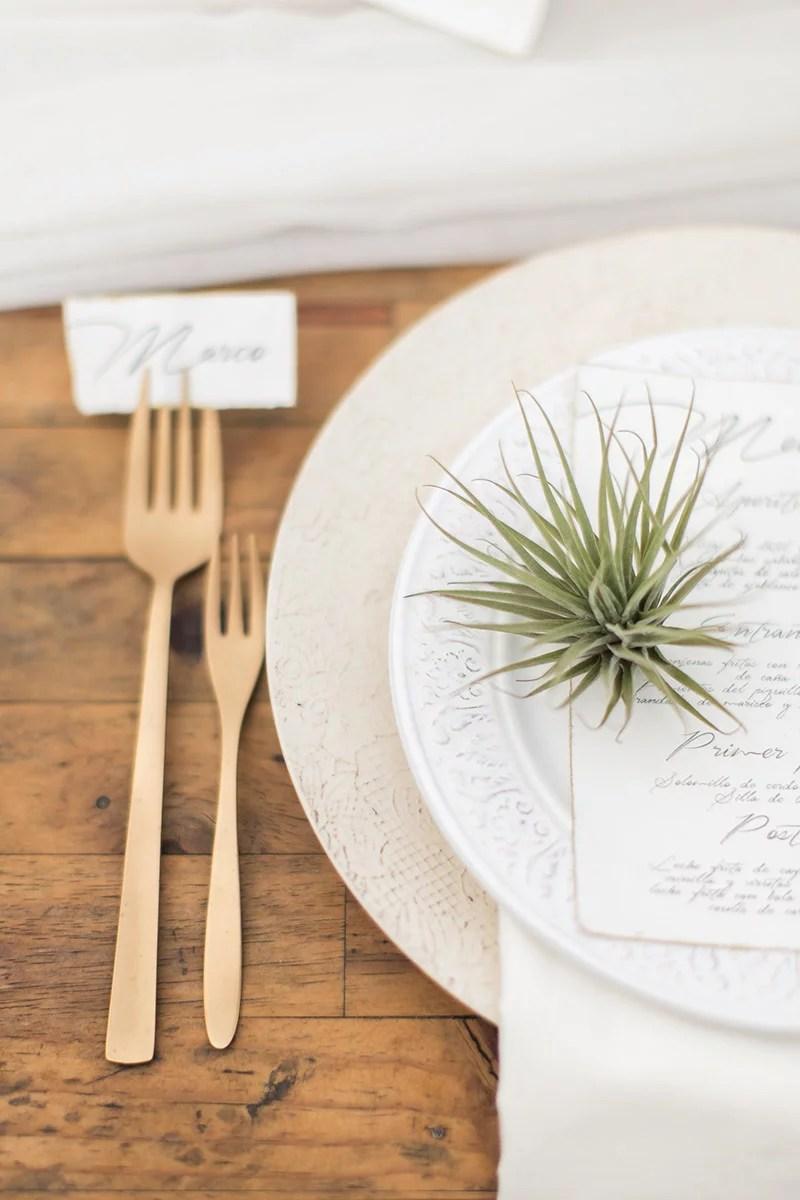 Hochzeit in Andalusien, Tischdeko mit Airplants, Desert Wedding