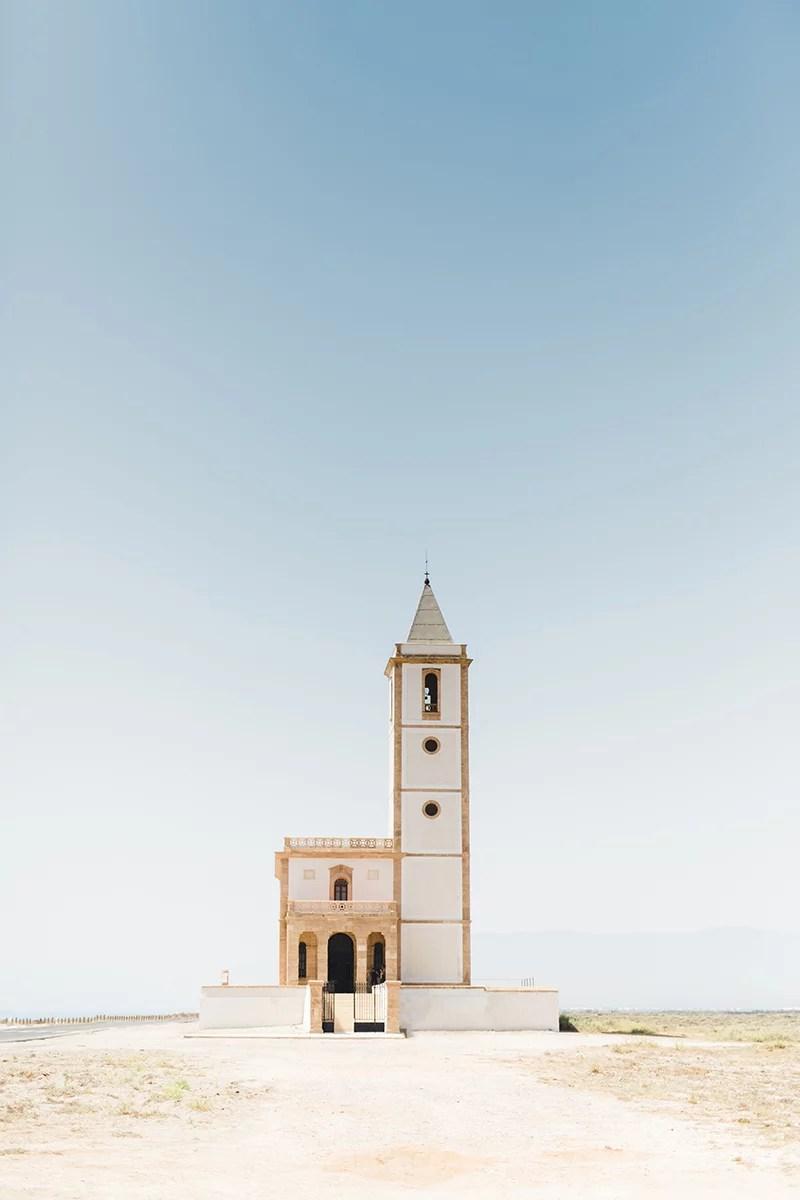 Kirche am Strand in Cabo de Gata
