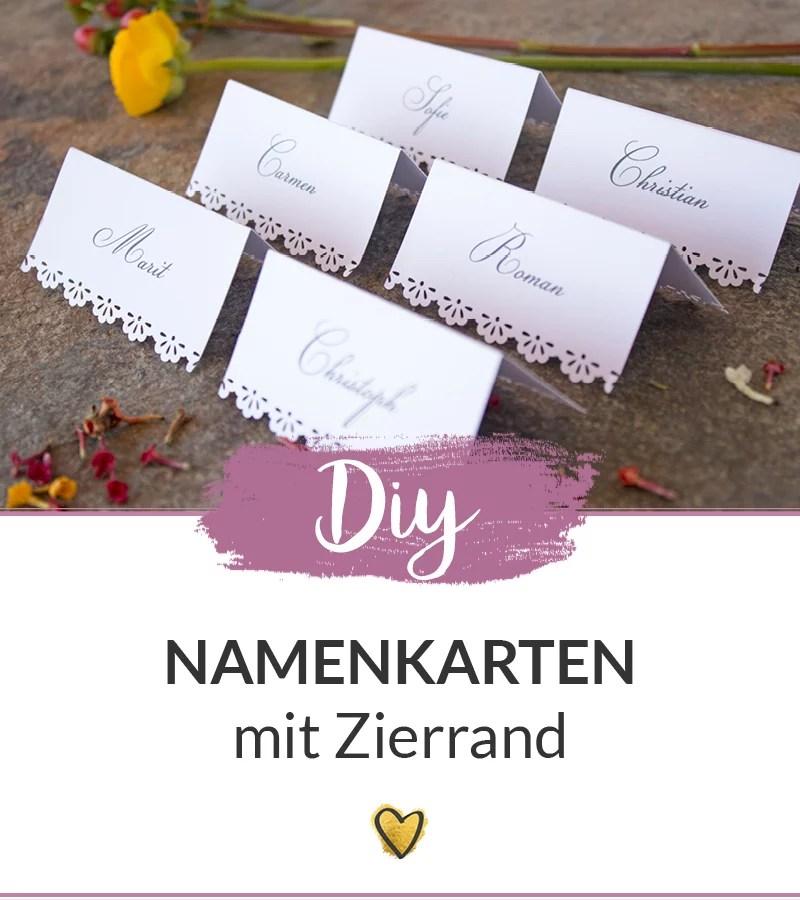 Diy Namenskarten Mit Zierrand Selber Machen Ambrosia Wedding