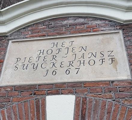 Suykerhoff tijdens Hofjeswandeling door de Jordaan in Amsterdam