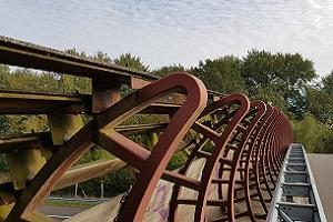 Wandelen over langeafstandspad het Floris V-pad