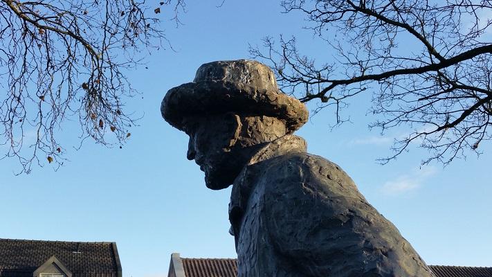 Beel van Vincent van Gogh tijdens een wandeling in het spoor van Van Gogh in Nuenen