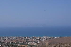 Zicht op kust tijdens wandelreis op Kreta in Griekenland