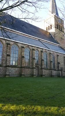 Kerk Franeker op een wandeling over het Nederlands Kustpad van Franeker naar Sint Jacobiparochie