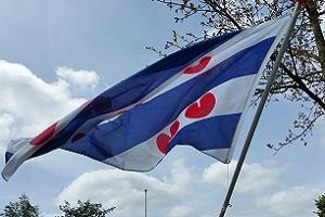 Friesche vlag op een wandeling over het Noardlike Fryske Wâldenpad